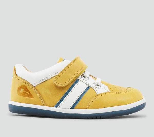 Bobux - I Walk - Racer Sport Shoe - Chartreuse/White/Airforce Shoes Bobux - Little GEMS Boutique