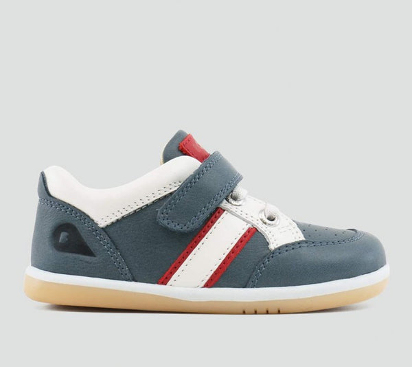Bobux - I Walk - Racer Sport Shoe - Airforce/White/Red Shoes Bobux - Little GEMS Boutique