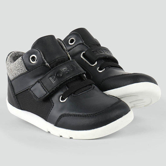 Bobux - Radial Casual Hi-Top - I Walk - Black - Little GEMS Boutique