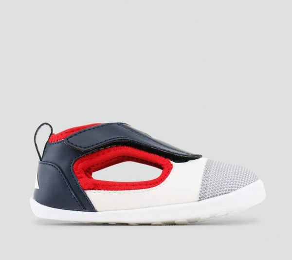 Bobux - Step Up - Spark Open Shoe - Navy/White/Red pre walkers Bobux - Little GEMS Boutique