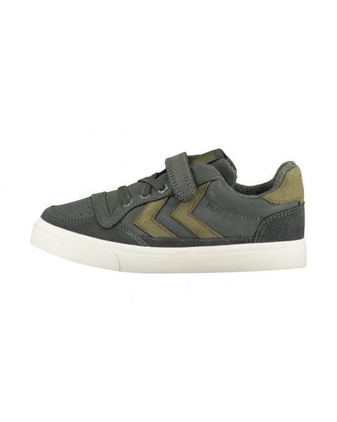 Hummel - Stadil Oiled Low Sneaker Jr - Dark Shadow - Little GEMS Boutique - 1