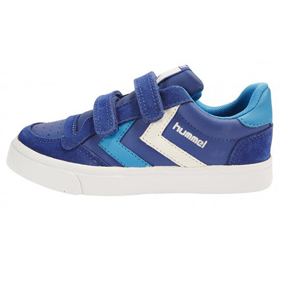 Hummel - Stadil Leather Jnr Low - Limoges Blue trainers Little GEMS Boutique - Little GEMS Boutique