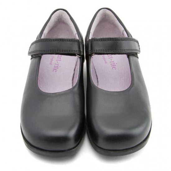 Start Rite, Samba, Black Leather Girls Riptape School Shoes shoes start rite - Little GEMS Boutique