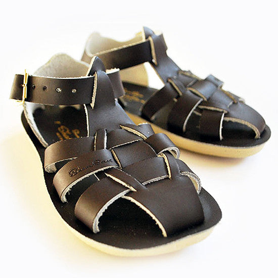 Sun Sandals - Sharks - Brown - Little GEMS Boutique - 1