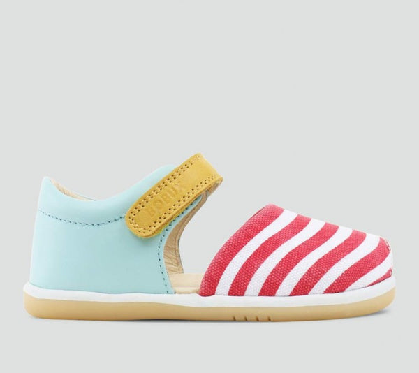 Bobux - I Walk - Twist Sandal - Aqua / Stripe Sandal Bobux - Little GEMS Boutique