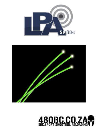 LPA 1mm Green Fiber Rod - 100mm
