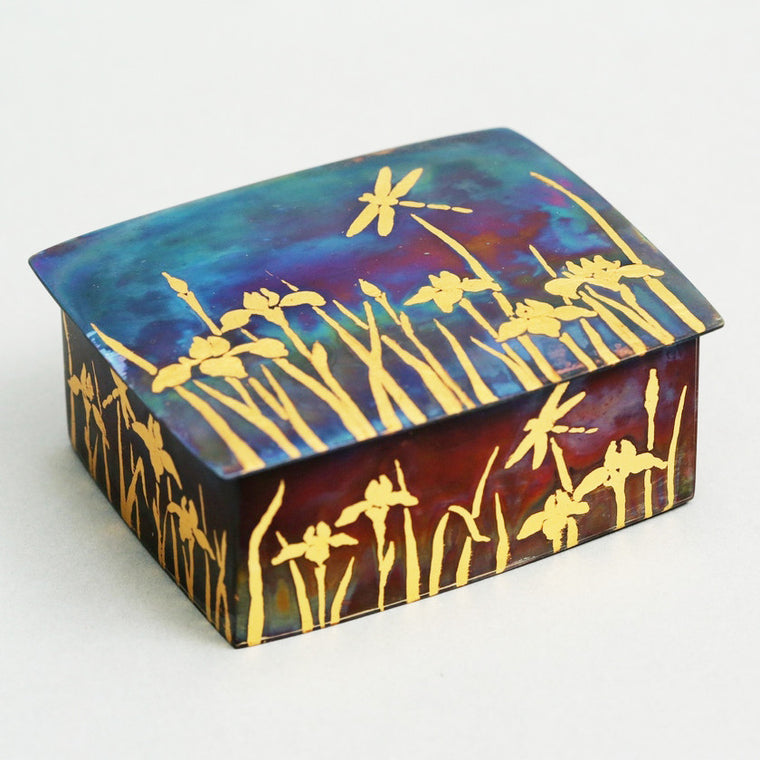 Iris and Dragonfly Box