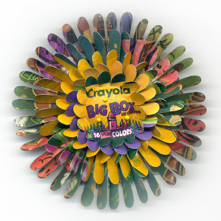 "Crayola ""Big Box"" Fill Your Life with Color Flower Pin"
