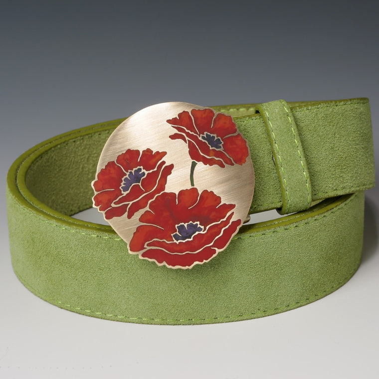 Three Poppies Belt Buckle