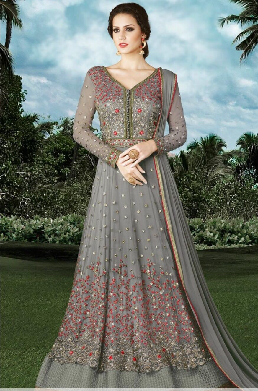Violet Designer Anarkali Dress E