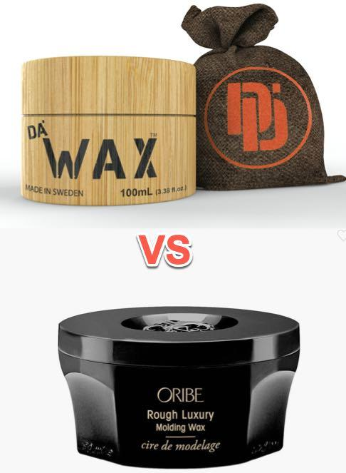 Rough Luxury Molding Wax by Oribe vs. Da Wax by Da Dude Comparison
