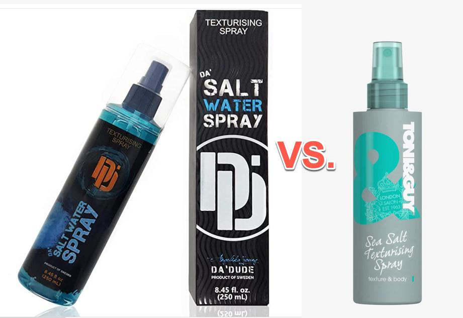 Toni & Guy vs Messy Salt Da Salt Water Spray Spray Comparison