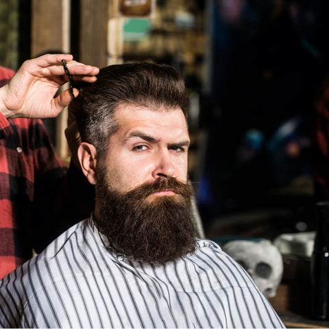 Guy with Thick Hair at Barbers