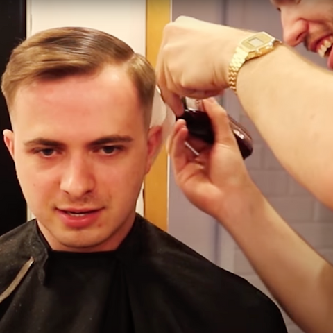 Receding Hairline Haircut Short on Sides