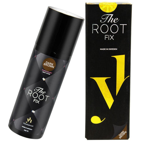 YoungHair The Root Fix Hair-Root-Dye-Touch-Up Temporary Dark-Brown 125 ml - Da'Dude By YoungHair