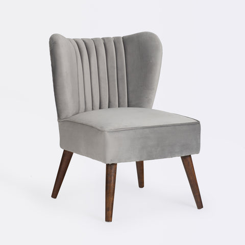 Bella Cocktail Chair - Silver Grey