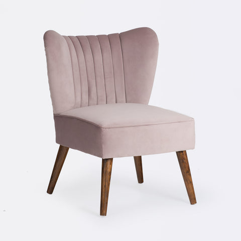 Bella Cocktail Chair - Dusty Pink