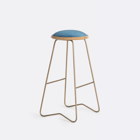 Ezra Bar Stool - Midnight Blue
