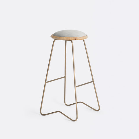 Ezra Bar Stool - Silver Grey