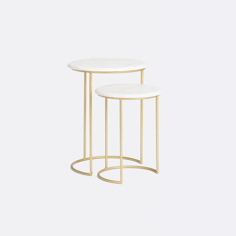 Harvey Marble Table - Gold