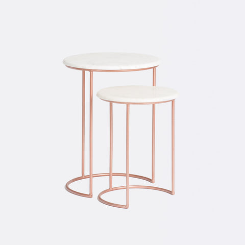 Harvey Marble Table - Copper