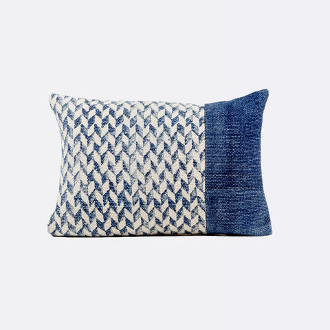 Tilly Rectangular Cushion - Indigo