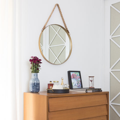 Holly Mirror - Jute