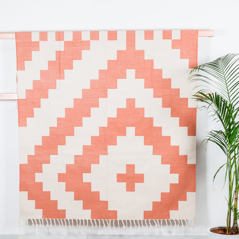 Layla Coral Woven Rug