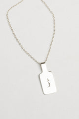 Urdu Rectangle Tag Necklace
