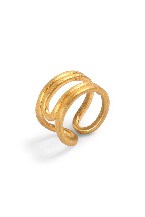 Bent Ring Gold