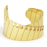 Folded Cuff Wide Gold
