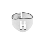 English Stencil Signet Ring Silver