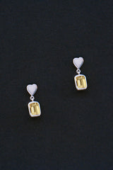 Heart Earrings with Stone
