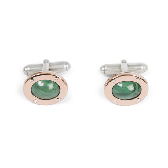 Cufflinks with Malachite