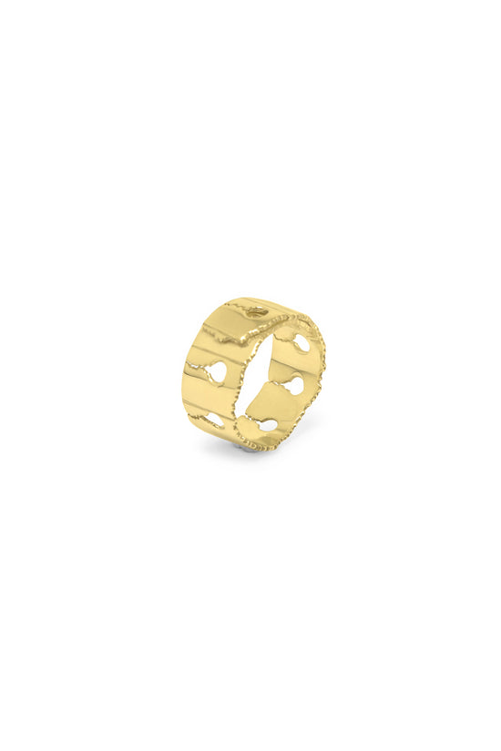 Verso Ring Narrow Gold