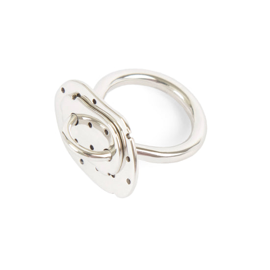 Plankton Ring Perforated Silver