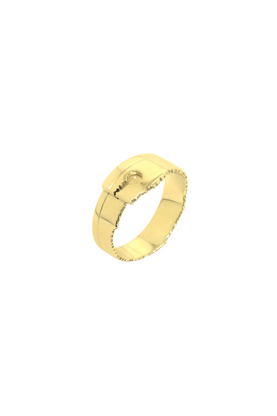 Recto Ring Narrow Gold