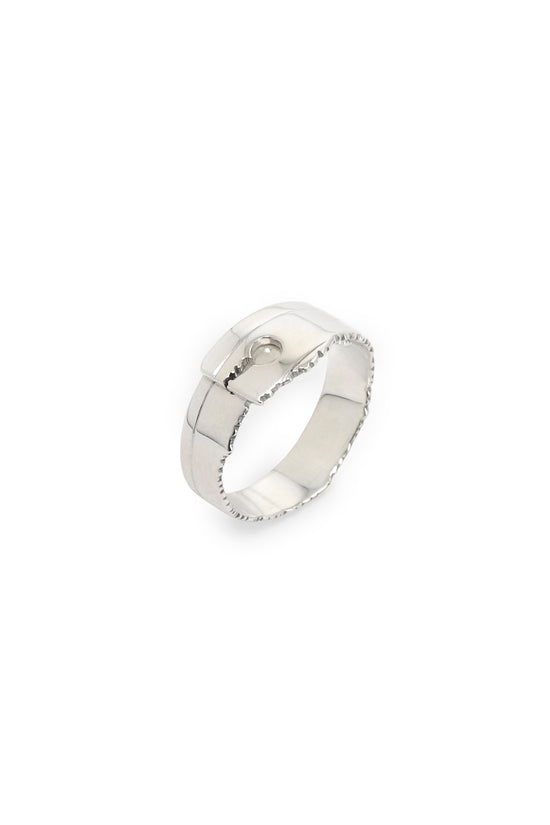 Recto Ring Narrow Silver