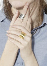 Recto Ring Wide Gold