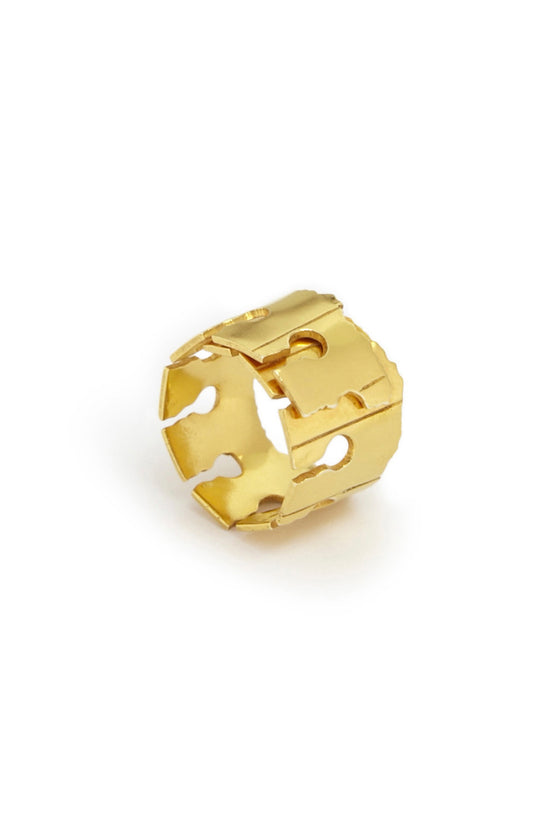 Verso Ring Wide Gold