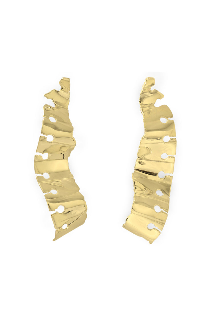 Wave Earrings Gold