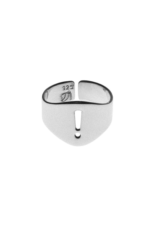 Symbol Stencil Signet Rings Silver