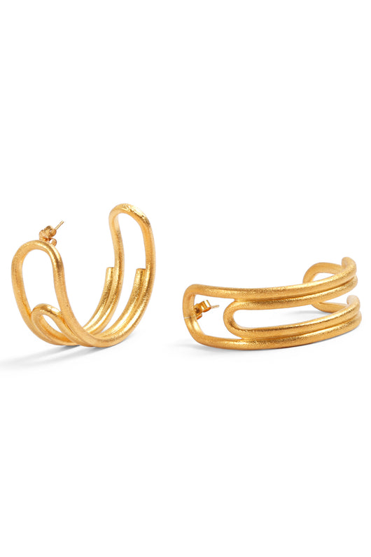 Curled Hoops (Large) Gold