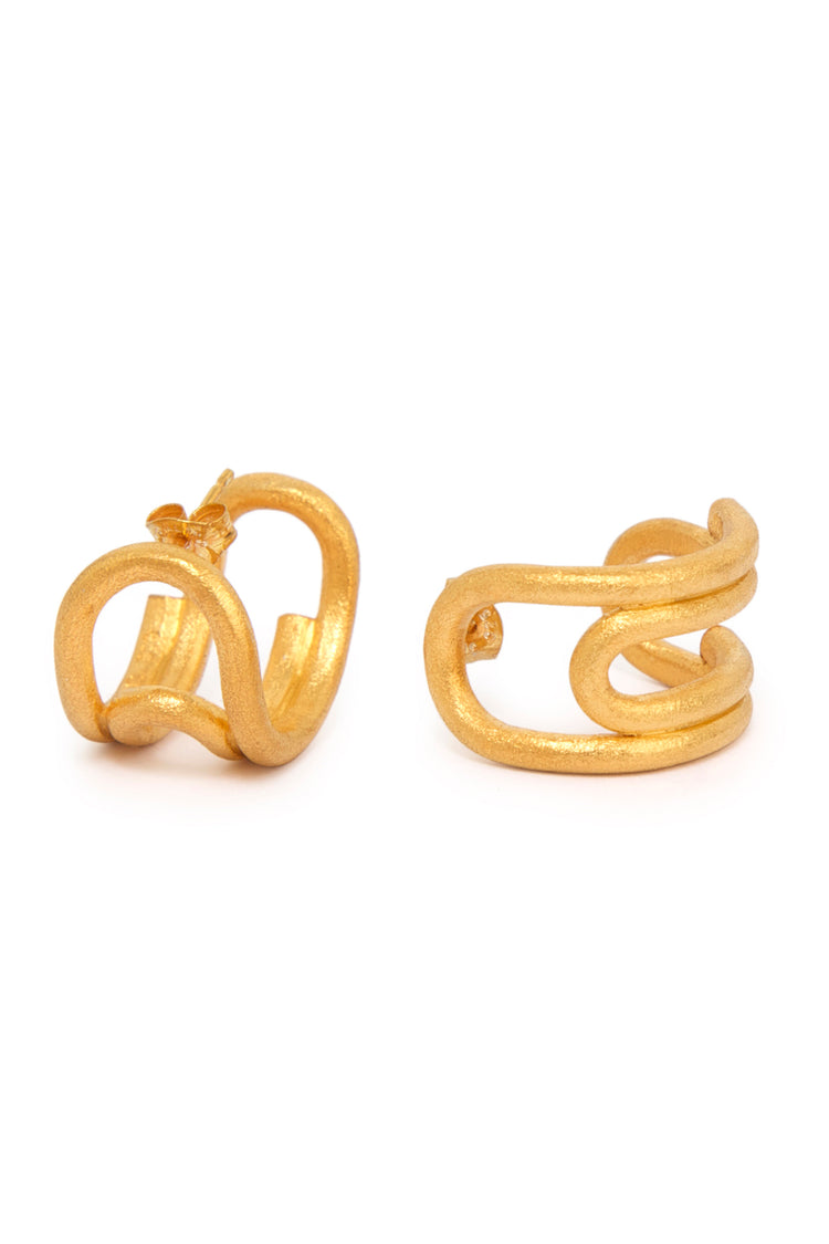 Curled Hoops (Small) Gold