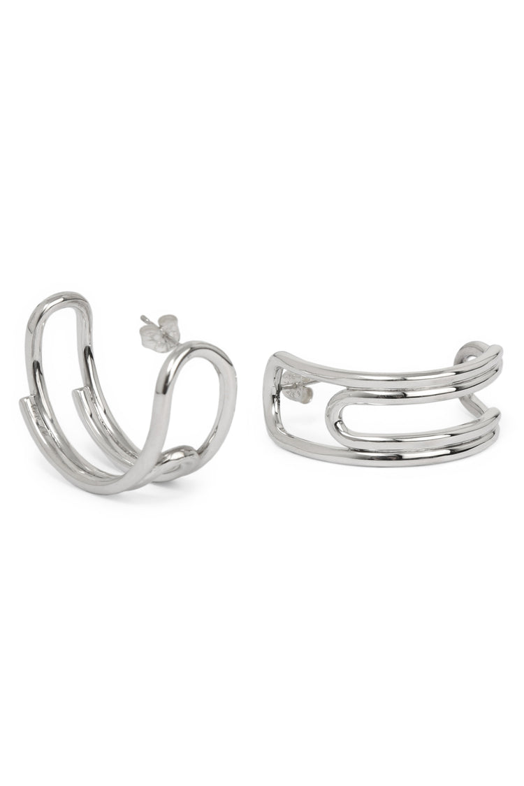 Curled Hoops (Medium)