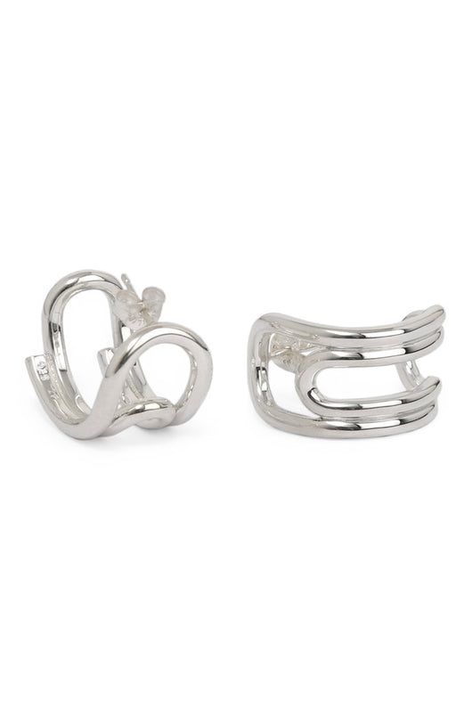 Curled Hoops Small Silver