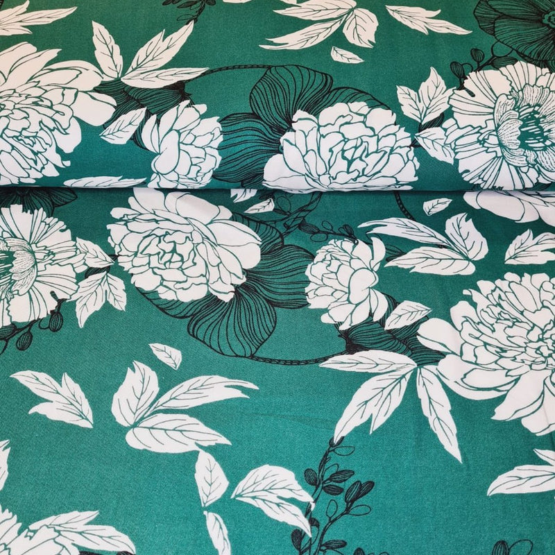 100% Viscose - Floral - The Fabric Counter