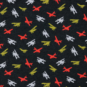 Aeroplane - Cotton Jersey - The Fabric Counter