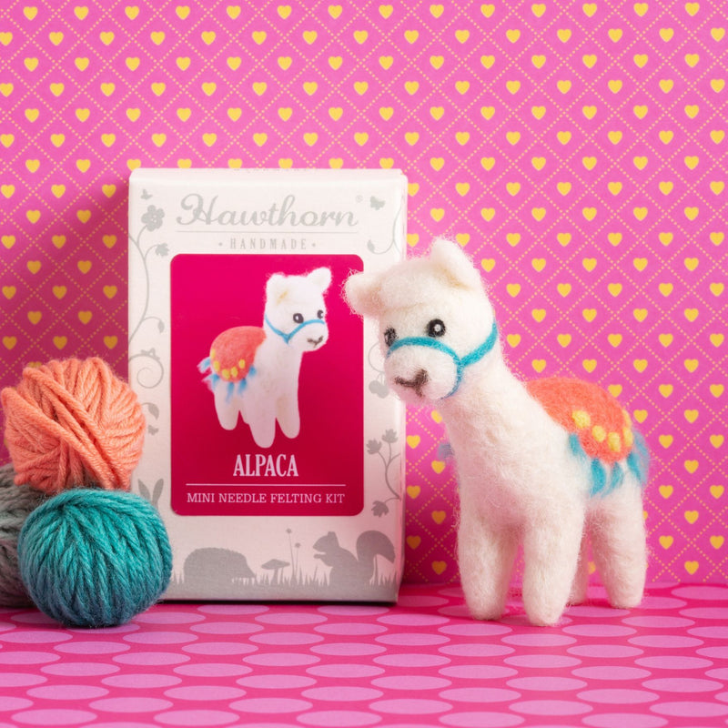 Alpaca Mini Needle Felting Kit - The Fabric Counter
