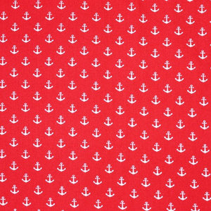 Anchor Cotton Print -Red - The Fabric Counter
